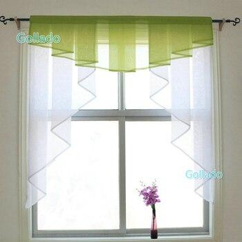 Модный плиссированный дизайн, цветные тюлевые занавески для балкона, кухонных окон, один комплект