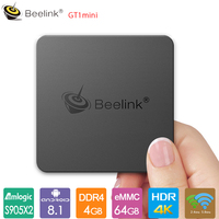 Beelink GT1 Mini TV Box Android 8.1 Smart TV Box Amlogic S905X2 4GB DDR4 32GB/64G Voice Control BT4.0 Dual Wifi 4K Media Player