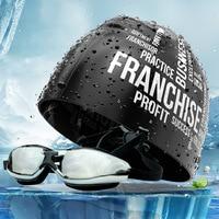 Óculos de proteção de peixe voador boné de natação de 2 peças óculos de natação masculino adulto feminino à prova dwaterproof água anti nevoeiro miopia alta definição grande caixa Óculos de segurança     -