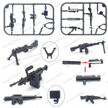 Military Weapons Machine Gun Rocket Launcher Building Blocks Soldier Army World War 2  Moc childs Christmas birthday gifts toys