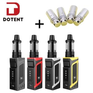 Image 1 - DOTENT VK Vape Kit электронная сигарета 80 Вт коробка мод 2000 мАч батарея 3,5 мл Замена Бака атомайзер ядро стартовый набор для вейпер