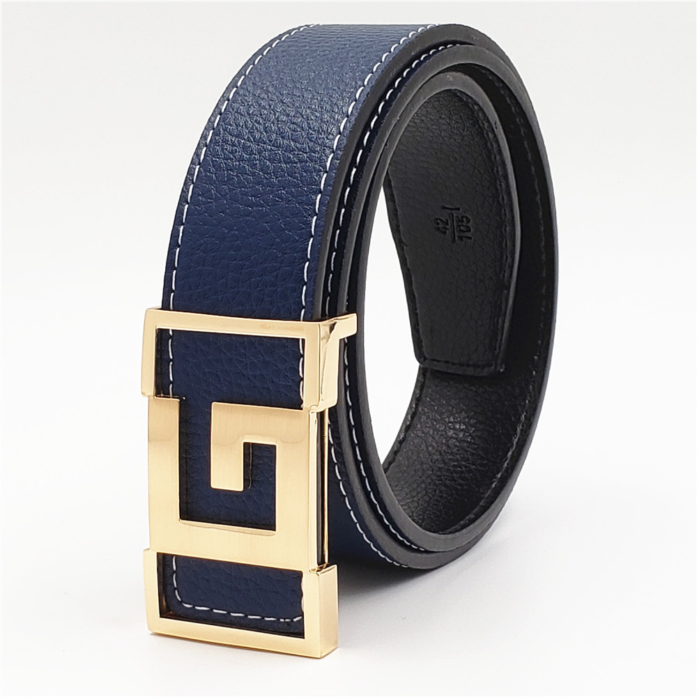 2019 Luxury Designer Strap Brand Women Men Waistband Genuine Leather G Belt For Jeans With Big Double G Buckle Fashion Belts