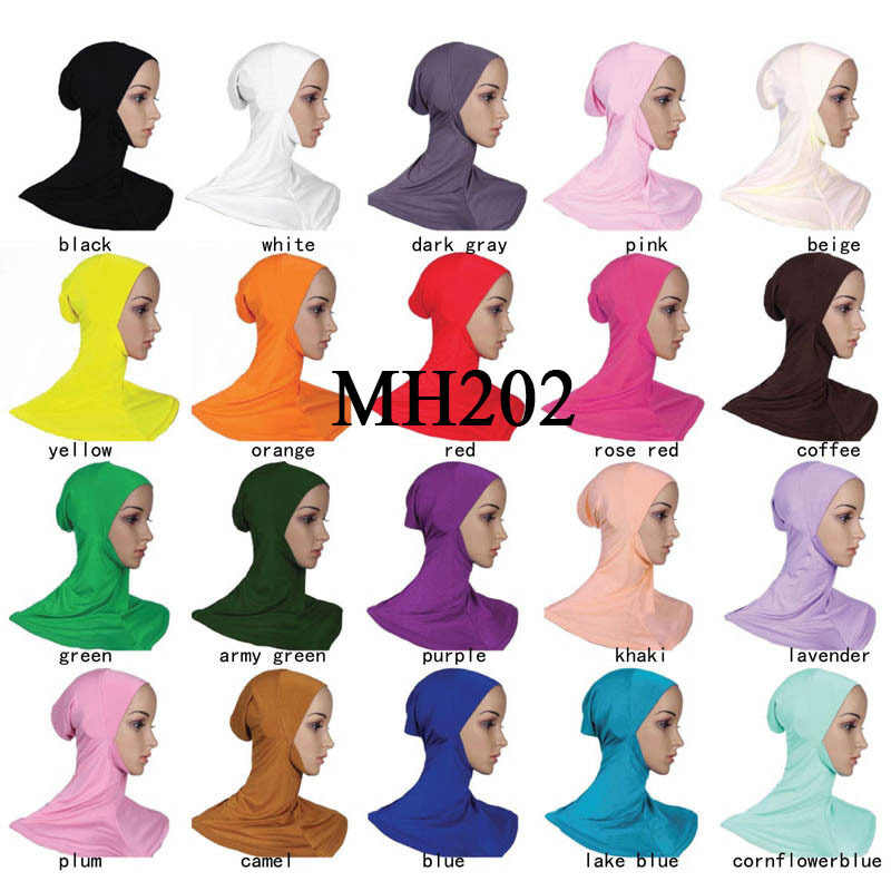 Moslim Instant Jersey Hijab Underscarf Innerlijke Caps voor Islam Vrouw Meisjes Foulard Hijaab Motorkap Islamitische Klaar Om Te Dragen Onder Sjaal