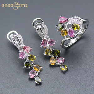 Anzogems natural color tourmal