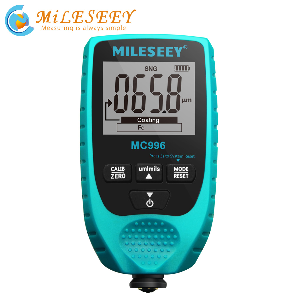 MILESEEY High-Precision Digital Coating Thickness Gauge Car Paintwork Detector Paint Thickness Meter Auto Thickness Tester