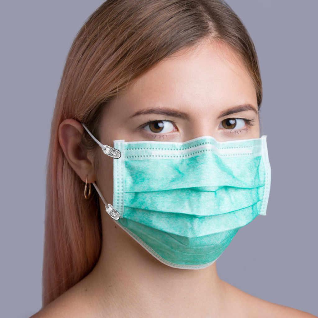 Diy maska akcesoria maska gumka z klipsami wytrzymały twardy plastikowy klips stabilizator Camisole 4 klip 2 elastyczna lina regulowana