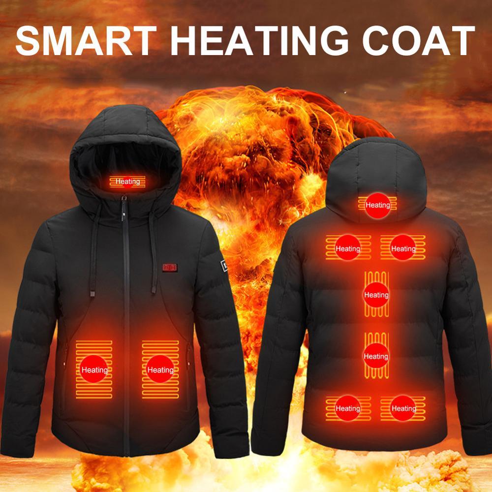 Обогревающая куртка, жилет, 9 зон обогрева, двойное управление USB, куртка с подогревом, толстая туристическая термальная куртка для кемпинга