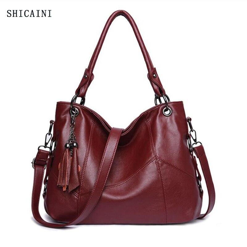 Genuine Leather Tassel Luxury Handbags Women Bags Designer Handbags High Quality Ladies Crossbody Hand Tote Bags For Women