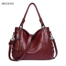Genuine Leather Tassel Luxury Handbags Women Bags Designer Handbags High Quality