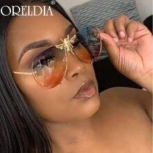 Gafas De Sol redondas Retro para mujer, anteojos De Sol femeninos con gradiente De espejo, De diseñador De marca, con diseño De abejas, 2020