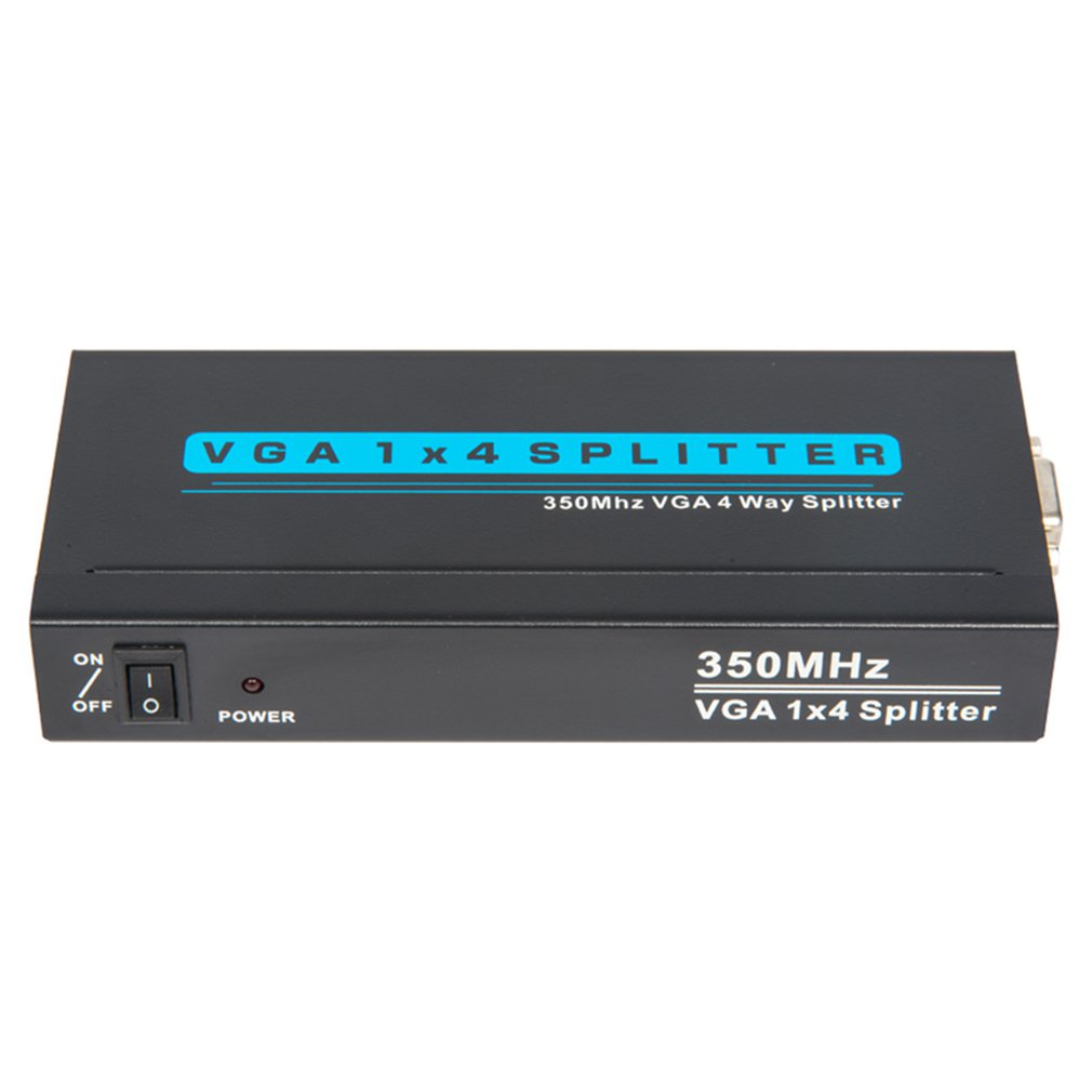 T-Vg Series 1X2 Vga Splitter  150Mhz/250Mhz/350Mhz Vga Splitter Suppor Rgb Analog Channel Bandwidth 1920X1440 Resolution