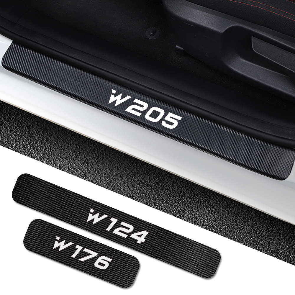 For Mercedes Benz W205 W212 W204 W203 W210 W213 W220 W221 W222 W124 W126 W140 W168 W169 W176 Car Door Sill Stickers Accessories-in Car Stickers from Automobiles & Motorcycles
