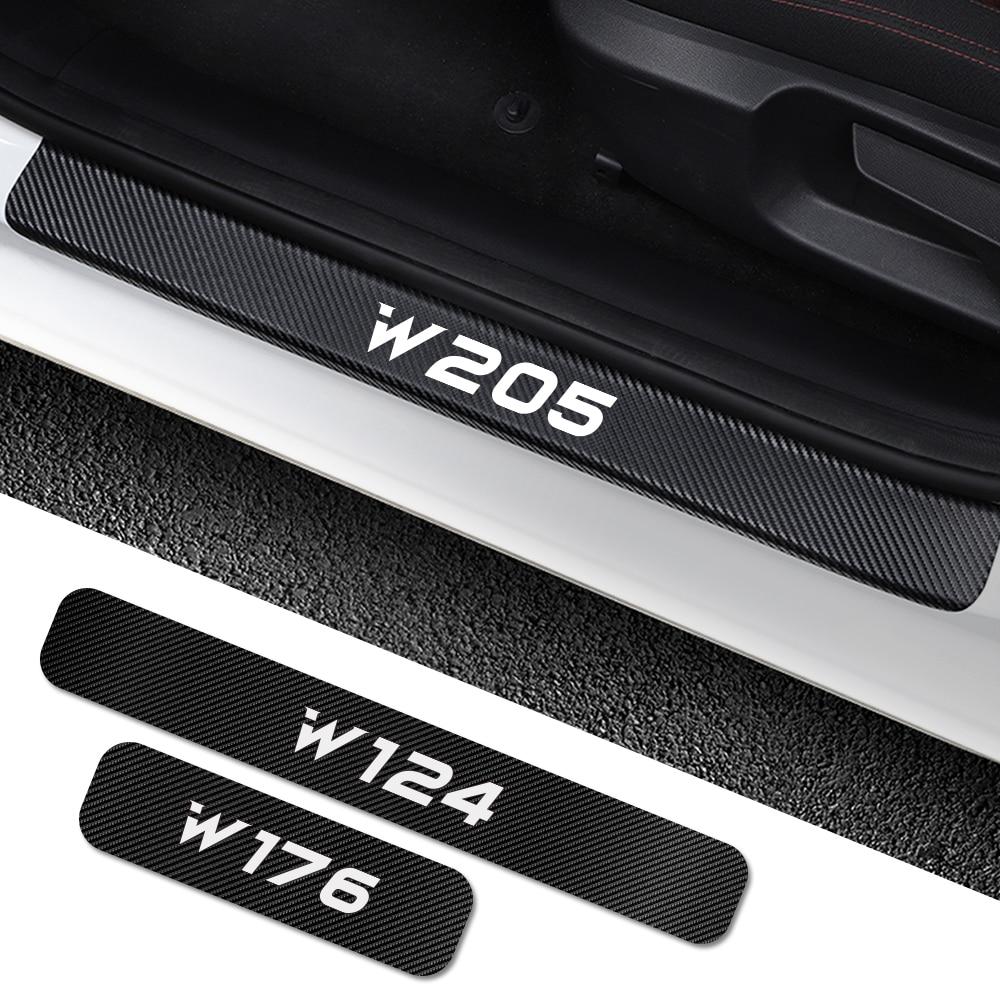 For Mercedes Benz W205 W212 W204 W203 W210 W213 W220 W221 W222 W124 W126 W140 W168 W169 W176 Car Door Sill Stickers Accessories