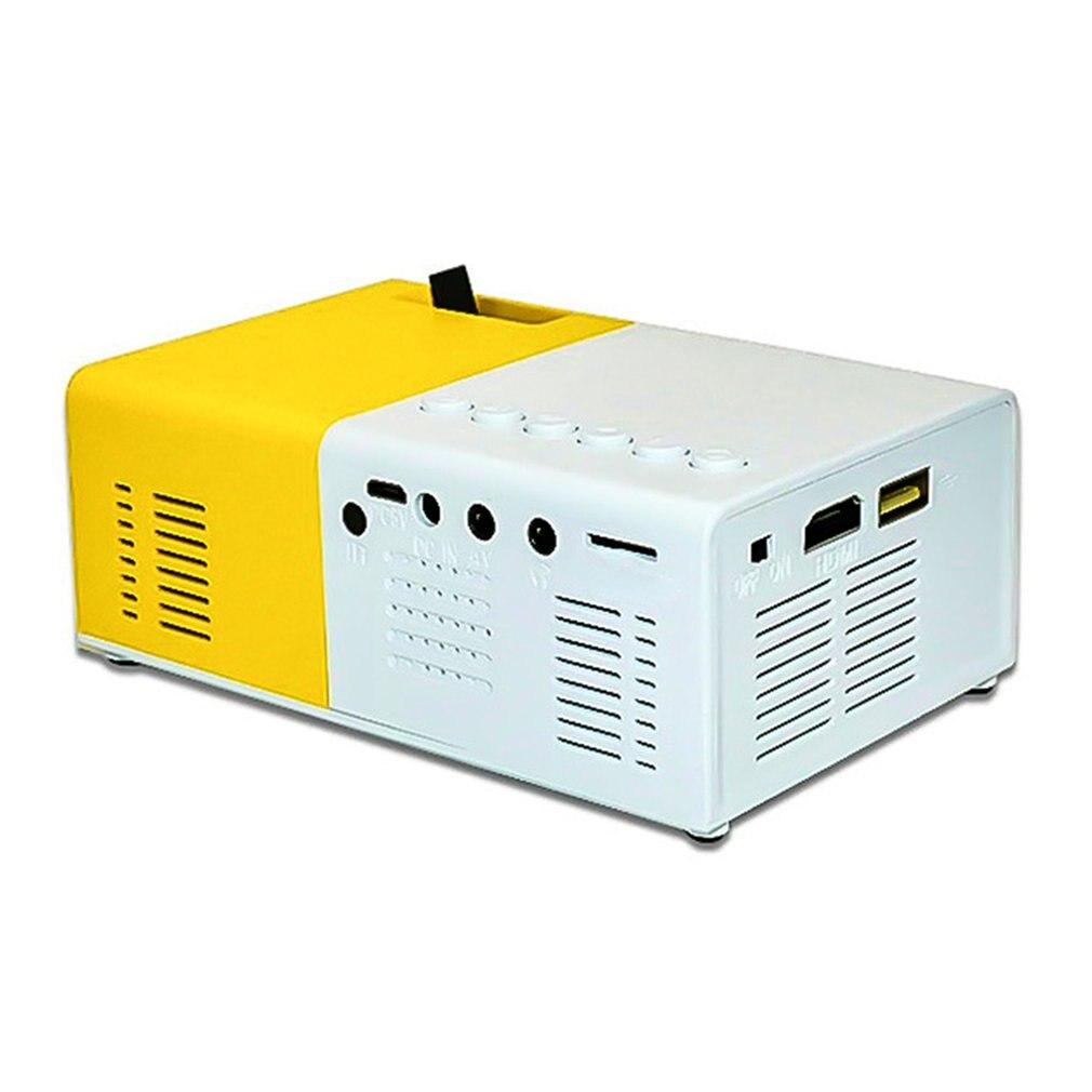 J9 portátil mini projetor 1080p mini casa projetor av usb sd tf cartão usb portátil bolso beamer com telefone pk yg300-5