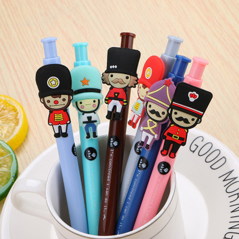 1pcs Big Soldier Gel Pen 0.5mm Cute Pens Novelty Stationery Kawaii Pen Student Cute Black Signature Pens Kawaii School Supplies