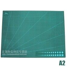 Tabla de alfombrilla de Corte A2 almohadilla de Corte verde para álbumes de recortes, edredones, costura y proyectos de artesanía Tapete de Corte 60cm x 45cm