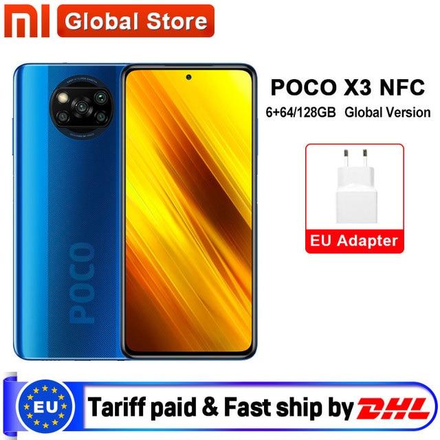 "Global Version Xiaomi POCO X3 NFC 6GB 64GB / 6GB 128GB Smartphone Snapdragon 732G Octa Core 64MP Quad Camera 6.67"" 120Hz 5160mAh"