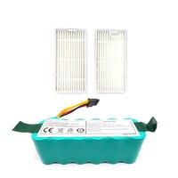 2Pcs Filters Ni Mh 14.4V 3500Mah Battery for Ecovacs Mirror Cr120 Vacuum Cleaner Dibea X500 X580 X600|Vacuum Cleaner Parts|   -