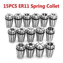 15PCS ER11 Spring Collet Set for CNC Engraving Machine & Milling Lathe Tool Tool Holder Freeshipping