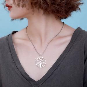 Image 4 - AILIN 2020 사용자 정의 목걸이 1 9 개인 된 펜 던 트 생명의 나무 가족 이름 목걸이 여성을위한 크리스마스 보석 어머니 선물