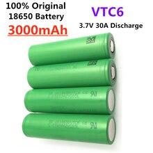 Vtc6 18650 3000mah bateria 3.7v 30a alta descarga 18650 baterias recarregáveis para us18650vtc6 lanterna ferramentas bateria