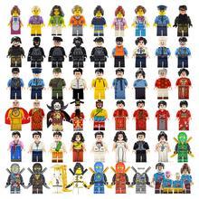 48 шт./компл. фигурки города серии жизни кирпичи семья учитель полицейские военные совместимые Legoings Armed SWAT строительные блоки детские игрушки