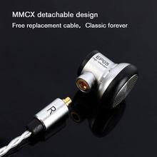 MMCX kulaklık HIFI kulaklık 16mm sürücü yüksek çözünürlüklü PET biyofilm 5N yüksek saflıkta OFC MMCX değiştirilebilir kablo PK VE keşiş artı