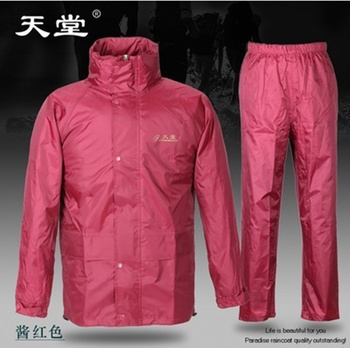 Waterproof Nylon Jacket Raincoat Women Pants Set Survival Raincoat Women Plastic Pink Chubasquero Mujer Plastic Jacket JJ60YY