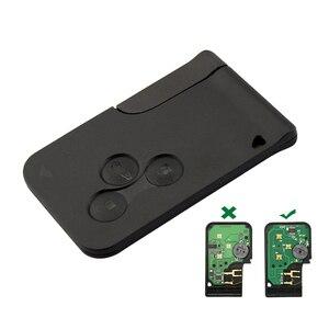 Image 2 - OkeyTech Chip con hoja de inserción de emergencia llave remota inteligente, 3 botones, 433Mhz, ID46, PCF7947, para Renault Megane Scenic 2009 2016