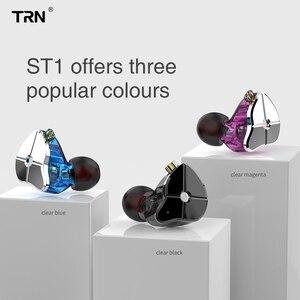 Image 2 - AK TRN ST1 1BA + 1DD Hybrid Metal In Ear auricolare IEM HIFI DJ Monitor Running Sport auricolare Earplug cuffie Headplug BA5/v90