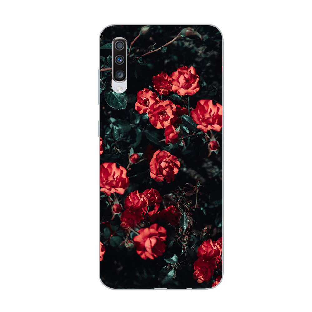 Image 4 - ciciber Phone Case for Samsung Galaxy A50 A70 A80 A40 A30 A20 A60 A10 A20e Soft Silicone TPU Flower Rose Vintage Cover Fundas-in Fitted Cases from Cellphones & Telecommunications