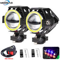2x125 W U7 tienda motocicleta Ojos de Ángel faro DRL focos auxiliar brillante LED bicicleta accesorios coche trabajo de la luz de niebla