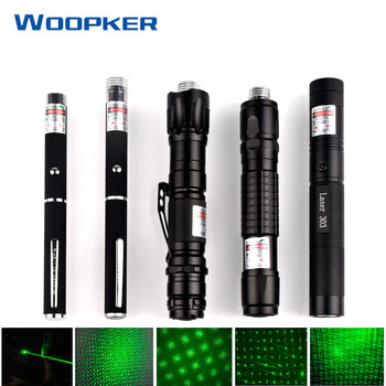 532nm 5mW Green Laser Sight Series laser 303 pointer Powerful device Adjustable Focus Lazer lasers pen without Battery powerful 5mw lazer pointer pen burning match green laser 303 laser pointe military 532nm choose usb charging or 18650 battery