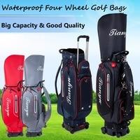 Multifunctional Golf Sport Package Standard Bag Waterproof Staff Bag Cover Hold A Full Set Clubs Big Capacity Sport Bags