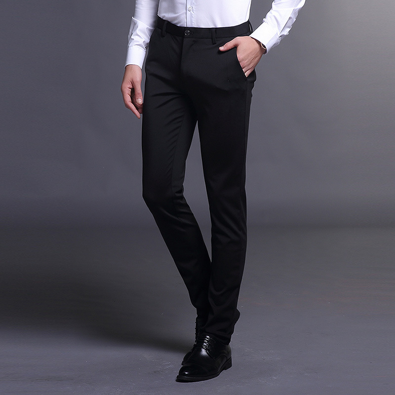 2019 Spring Summer New Style Slim Fit Korean-style Men's Trousers Business Straight-Cut Long Pants Slim Fit MEN'S Suit Pants Ski