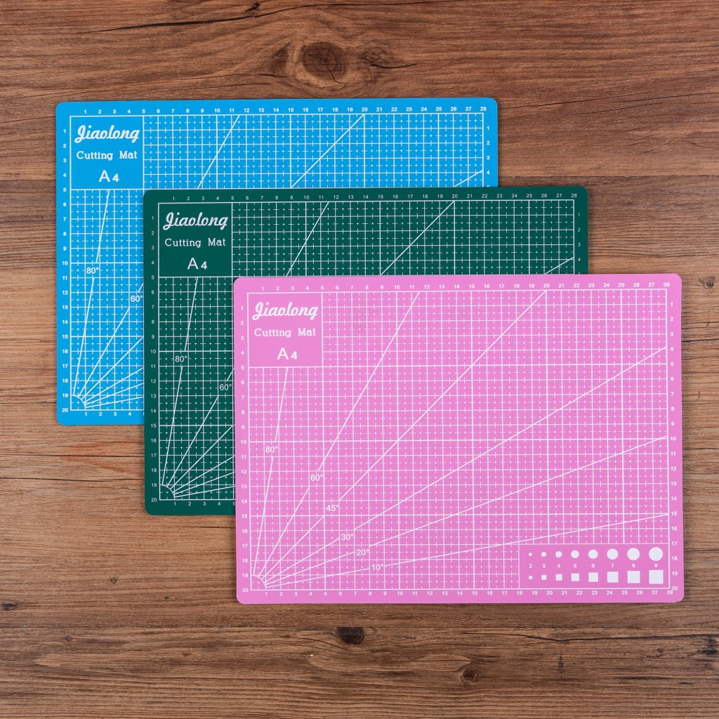 1pcs A3 pvc multicolor rectangular cutting Mat Grid Line board cutting engraving backing plate thickness 3mm 45cm x30cm