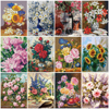 HUACAN Painting By Numbers Flower Pictures Acrylic Hand Painted Canvas For Living Room Wall Art
