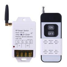 315MHZ 433MHZ + 220V 380V 30A röle kablosuz uzaktan kumanda anahtarı alıcı ile Led ışık 2000M verici