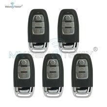 Remtekey 5pcs smart remote car key 8T0959754C 3 button 868Mhz for Audi A4 A5 S5 A6 Q5 include key insert remtekey
