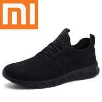 Xiaomi flyknitted zapatos de hombre zapatillas de deporte ligeras para Hombre Zapatos transpirables para correr de goma Tenis Masculino Adulto Plus 12 Drop Shipping