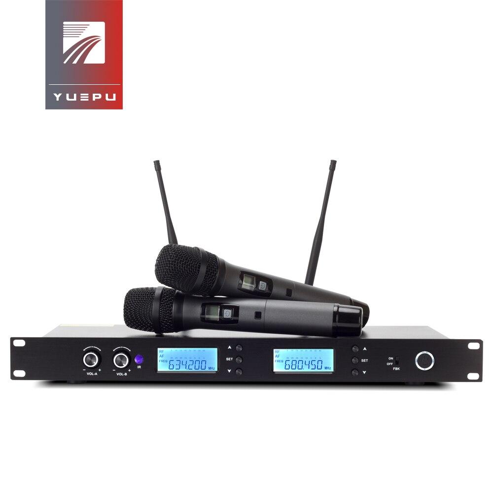 Bonne qualité! Transmission Stable de système de Microphone sans fil professionnel d'uhf avec le col de cygne tenu dans la main pour l'église de karaoké d'étape