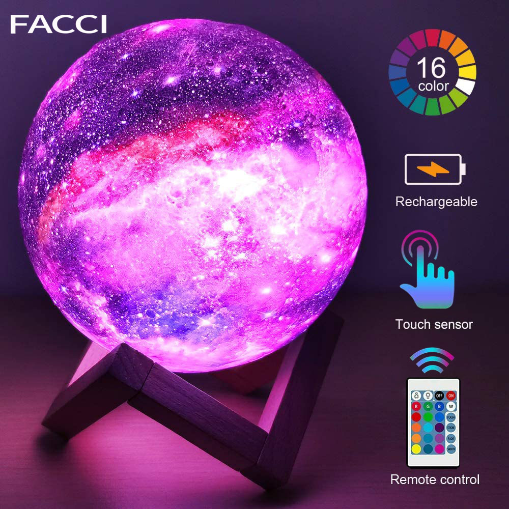 Moon Lamp 3D Print Galaxy Light Sky Night Light Galaxy Lamp Colorful Change Touch Home Decor Creative Gift For Kids Lover Gift