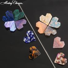 Fashion Heart Shape Resin Geometric Shiny Shell Hairgrip Ladies Girl Hair Clips For Women Hairpins Accessories Gift