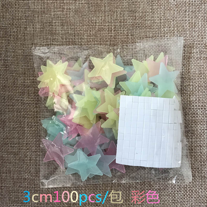 100-pcs-3D-Star-and-Moon-Energy-Storage-Fluorescent-Glow-In-the-dark-Luminous-on-Wall(10)