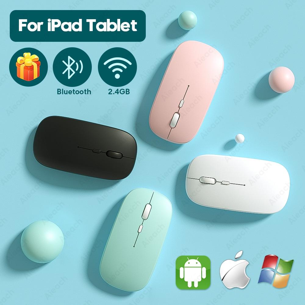 Перезаряжаемая Bluetooth мышь для iPad Pro 11 12,9 2018 2020 7th 8th поколение Air 3 4 беспроводная мышь для Xiaomi Samsung Tablet