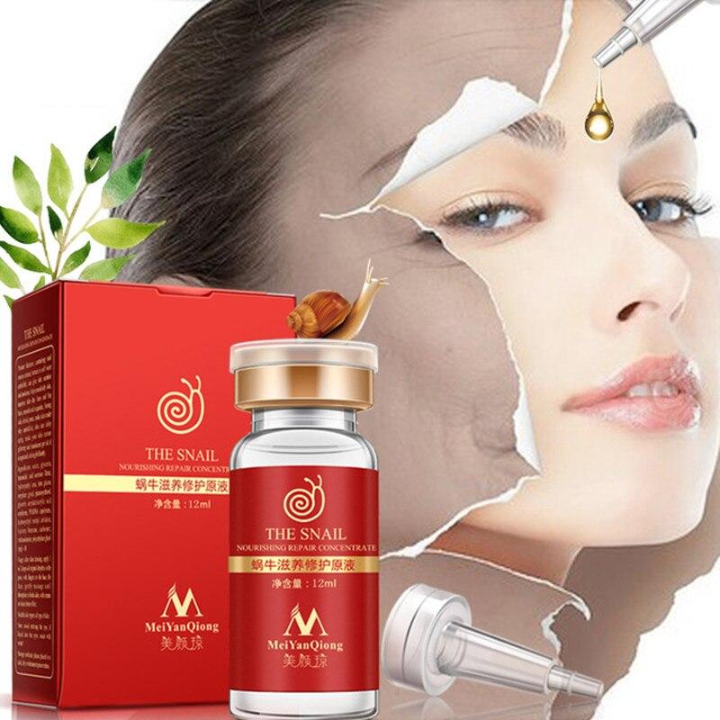 Mei Yan Qiong Líquido de reparación nutritiva de caracol, esencia de ácido hialurónico de alta calidad, reduce los poros, ampolla, esencia blanqueadora