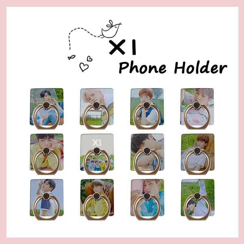 Youpop KPOP X1 ألبوم صغير الكم قفزة الصورة X واحد البنصر الهاتف المحمول حامل هاتف ذكي حامل الهاتف الدائري حامل GU125