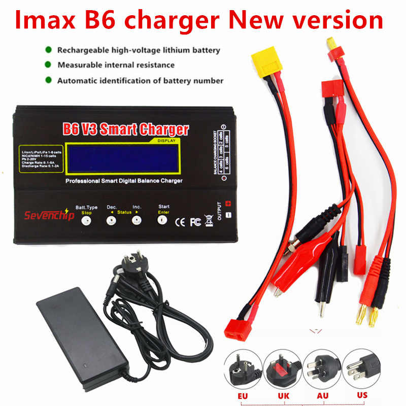 Baterai Lipro Keseimbangan Chargernew Upgrade IMAX B6 V3 Charger Lipro Digital Charger 12 V 6A Power Adapter Pengisian Kabel