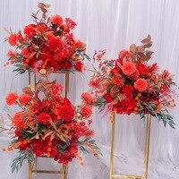 SPR 35 silk rose hydrangea peonies artificial flower ball centerpieces party wedding background decor table flo