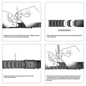 Image 5 - רצועת השעון עבור Garmin Fenix 6 Fenix 6 פרו Fenix 5 Fenix 5 בתוספת טיטניום סגסוגת להקת 22mm שעון רצועה צמיד עבור fenix 6